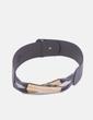 Cinturón gris detalle gold Uterqüe