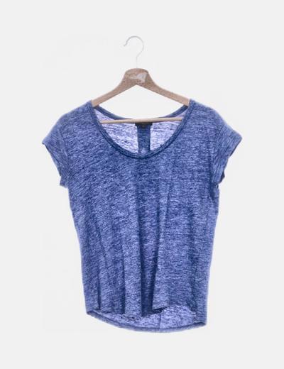 Camiseta azul jaspeada