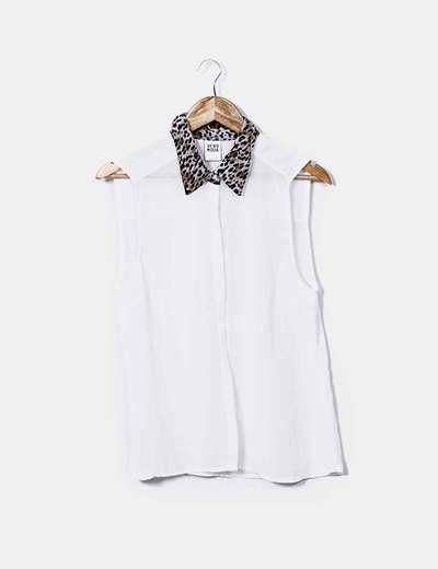Raw shirt with necks animal print Vero Moda