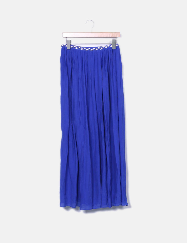 Falda detalle Suncoo azul baratas maxi online Faldas cinturón rEwqxr47 ... d924e0d974be
