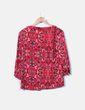 Blusa roja estampada Cortefiel