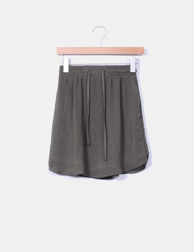 Mini-jupe khaki VILA