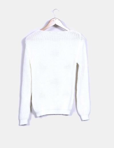 Jersey de punto blanco cerezas