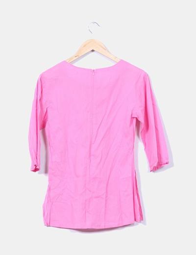 Blusa rosa con paillettes