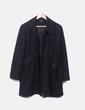 Abrigo negro con botones New Saks Woman