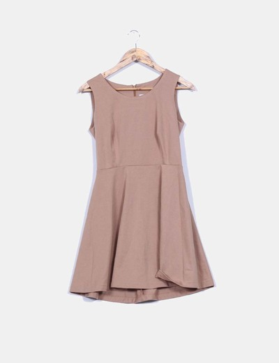 Vestido básico marrón Fórmula Joven