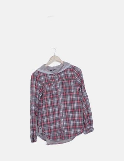 Camisa cuadros con capucha