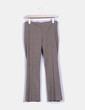 Pantalón marrón de cuadros  Zara