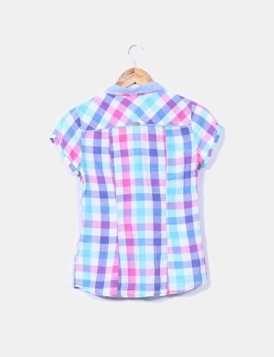 Camisa a cuadros multicolor