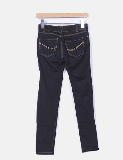 Jeggings negro efecto denim
