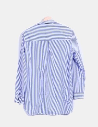 Camisa De Con De Rayas Rayas Parches Camisa 7b6gfYy