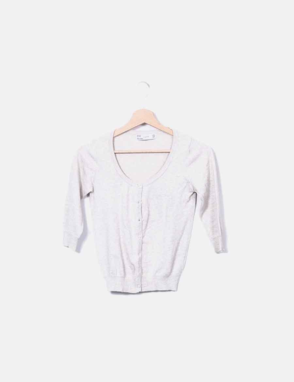 y online de Chaquetas beige baratos Mujer Abrigos Chaqueta tricot Hq40zxn