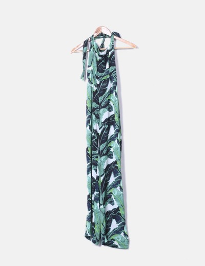 Vestito verde floreale Stradivarius