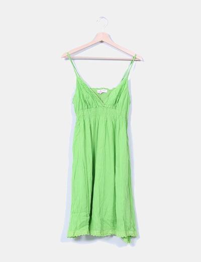 Vestido verde de tirantes Peace And Love