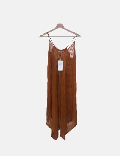 Vestido fluido marrón
