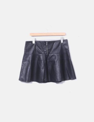 dd72254010 Pepe Jeans Mini falda negra polipiel (descuento 78%) - Micolet