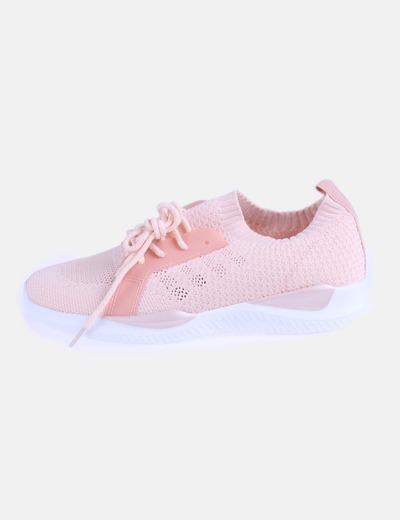 Sneaker rosa con glitter