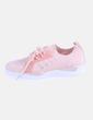 Sneaker rosa con glitter BE.