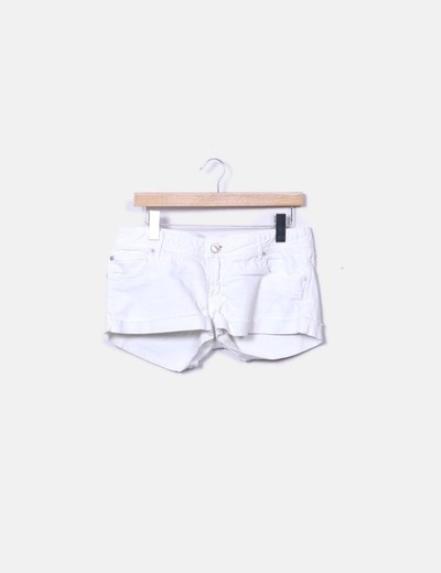 Shorts denim blanco