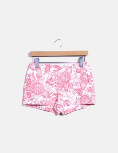 Short con estampado bicolor Zara
