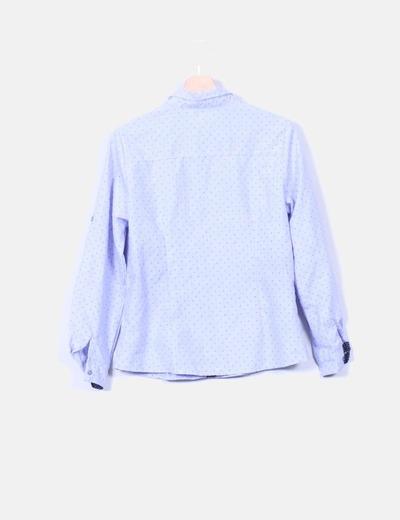 Camisa azul print stars moon