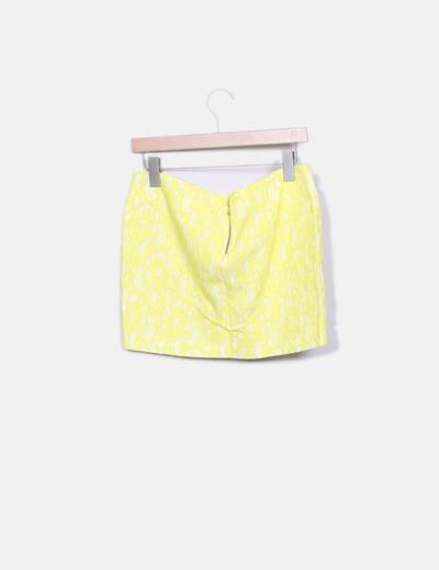 Minifalda amarilla crochet