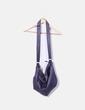 Sac violet en bandoulière avec trous Bershka