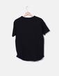 Camiseta negra escote cordones Stradivarius