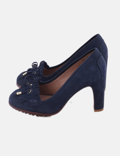 Zapato mocasin azul marino