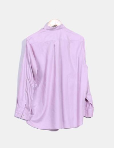 Camisa rosa palo tacto seda