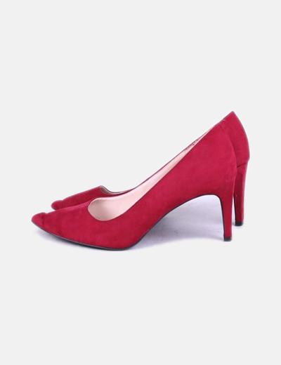 Zapatos salones burdeos Zara