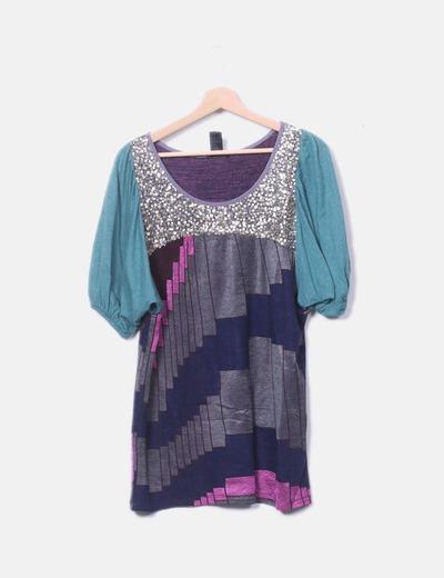 T Top Barcelona Donna Da shirt Custo DIWeE2YH9
