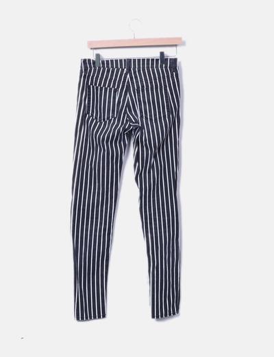 Jeans denim de rayas
