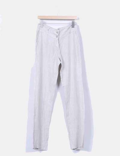 Pantalón de lino beige NoName