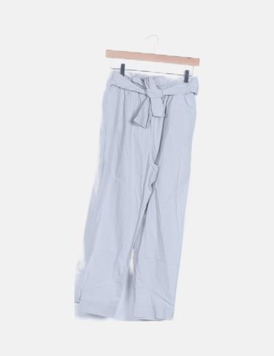 Pantalón paperbag gris