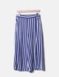 Pantalon bleu droit à rayures Mango