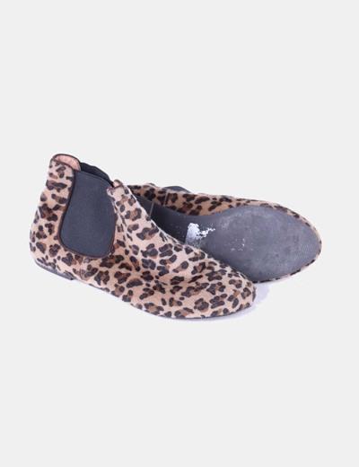 Botines pelo print leopardo