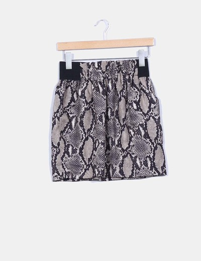 Mini falda animal print Zara