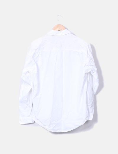 baratas para descuento cómo hacer pedidos nueva Camisa blanca con hombreras y bordado