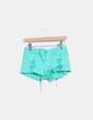 Shorts denim verde ripped Klique B