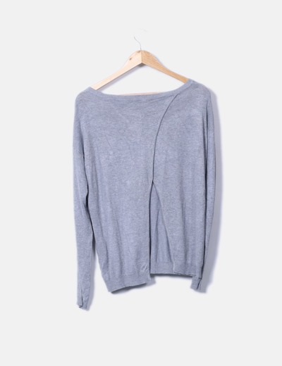 Sueter tricot gris