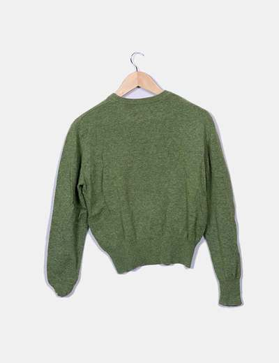 9a0ab93782ca4 Thomas Burberry Pull vert en maille olive (réduction 81%) - Micolet