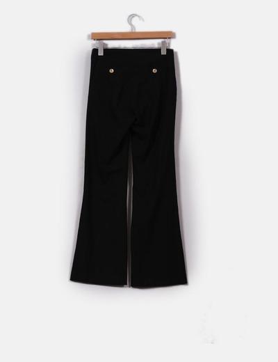 Pantalon negro campana