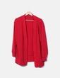 Cárdigan tricot rojo Bershka