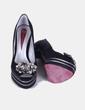 Zapatos peep toe con strass Sara Navarro