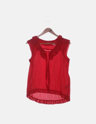 Blusa roja sin mangas