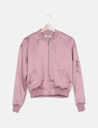 Bomber satinada rosa
