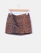 Mini falda animal print H&M