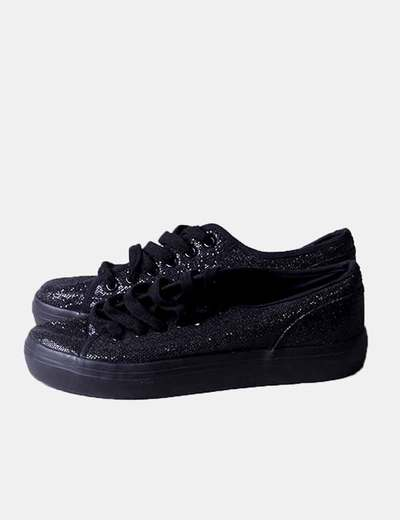 Bambas negra glitter
