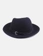Sombrero negro con hebilla NoName